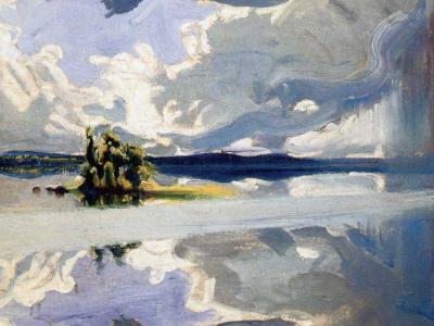 Gallen-Kallela - Nubes sobre isla