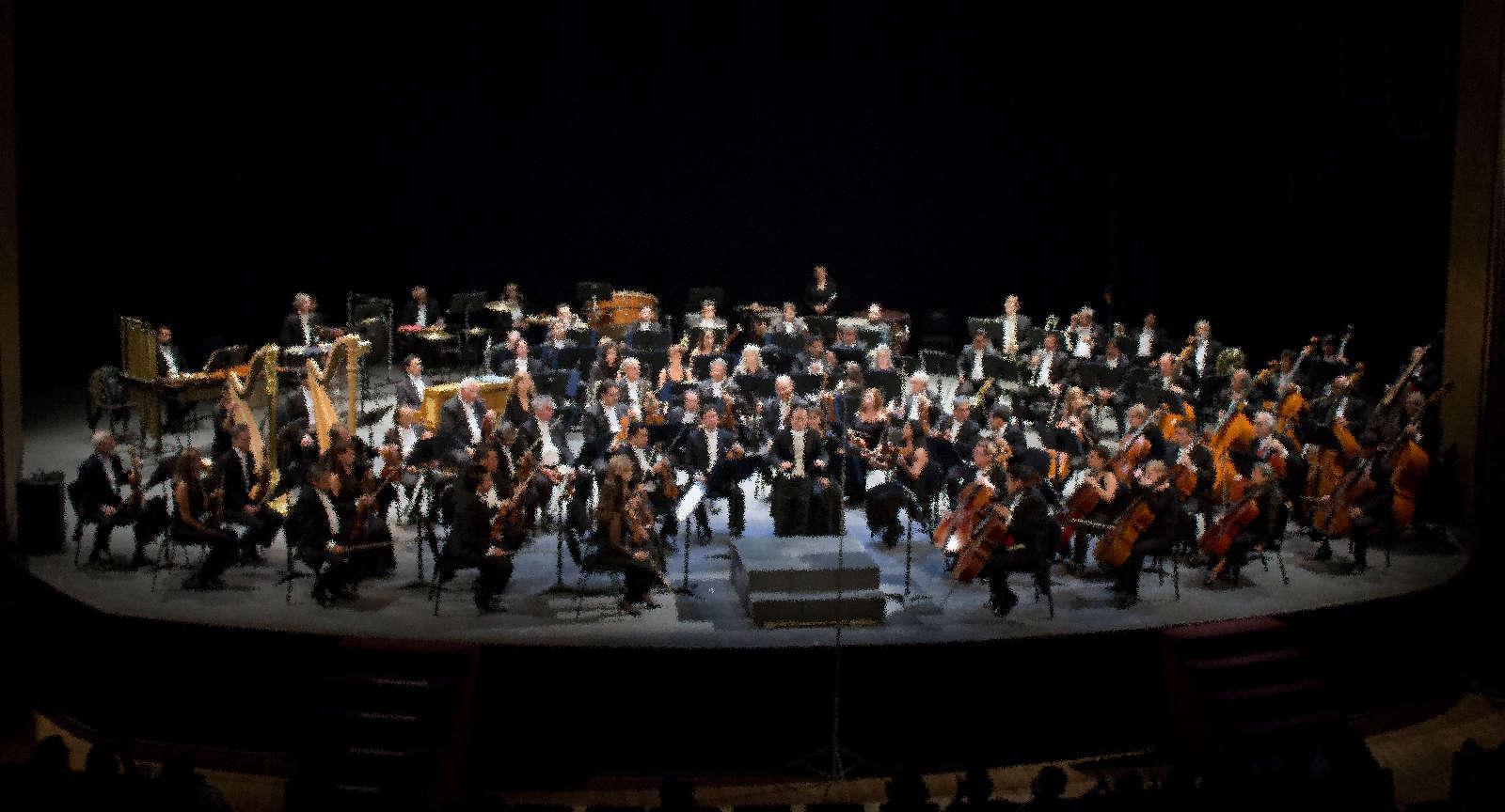 OFCM en el Teatro de la Ciudad... foto con efecto.